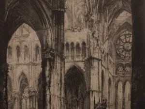 Rheims Cathedral Interior    by Louis Orr