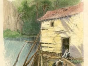 Old Mill - Reems' Creek by Harry  Fenn