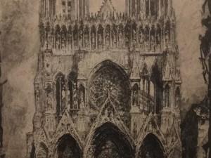 Rheims Cathedral, Facade by Louis Orr