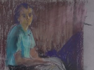 Studio Portrait (Sarah at the Academy)  by Francis  Speight