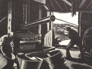 Cider-making (October) by Clare Leighton