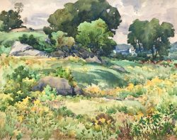 Glacial Rocks and Goldenrod by Harry De Maine (1880-1952)