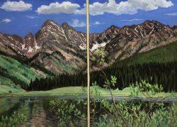 Fairbanks, Alaska by Elsie Dinsmore Popkin (1937-2005)