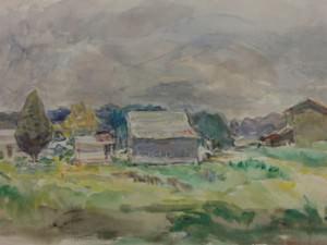 Barns on Highway 43 by Sarah Blakeslee