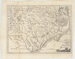 North Carolina 1779 Map  by Universal Magazine