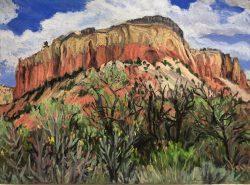 Kitchen Mesa, Ghost Ranch, New Mexico by Elsie Dinsmore Popkin (1937-2005)