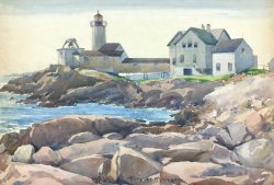 Easatern Point Light, Gloucester by Harry De Maine (1880-1952)
