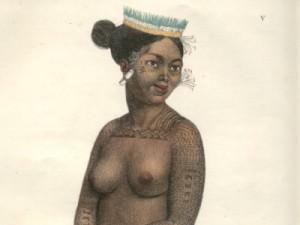 Femme du Groupe Des lles Saltikoff by M. Louis Choris