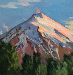 Villarrica Volcano, Sunset, Chile by Elsie Dinsmore Popkin