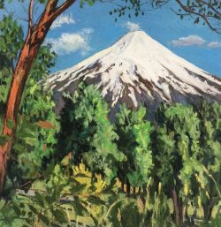 Villarrica Volcano from Pucon, Chile by Elsie Dinsmore Popkin (1937-2005)