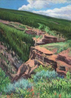 Vail Series, View Above Gilman by Elsie Dinsmore Popkin