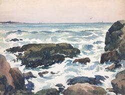 Rocky Shore by Harry De Maine (1880-1952)