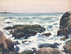 Rocky Shore by Harry DeMaine