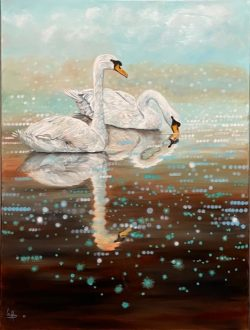 Airlie Swans by Lee Mims