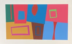 Interaction on Color - XVIII-3-1 by Josef Albers