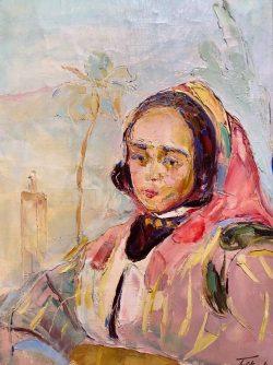 Femme Marocaine Assise by Wladimir de (Wlodzimierz)  Terlikowski