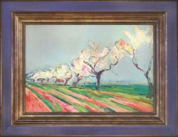 Almond Trees in Springtime by Wladimir de (Wlodzimierz)  Terlikowski
