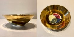 Antique Gold Celebration Bowl by Sally Bowen Prange