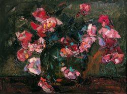 Fleurs Sur Fond Vert by Wladimir de Terlikowski