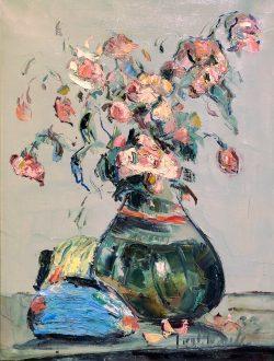 Arrangement Avec Roses Pales by Wladimir de Terlikowski