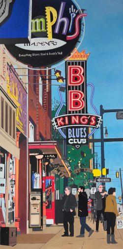 B.B. King by Keiko Genka