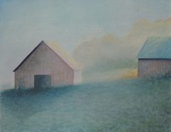Barns in the Morning Mist by Michael Francis Reagan