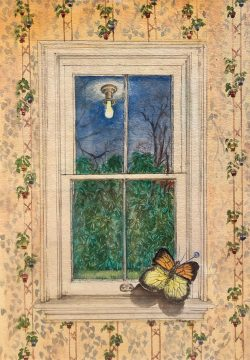 Wallpaper, Window, and Butterfly by George Bireline (1923-2002)