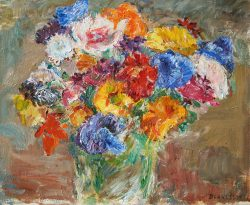 Still Life with Flowers by Blakeslee, Sarah (1912-2005)