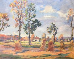 Autumn Scene by Blakeslee, Sarah (1912-2005)