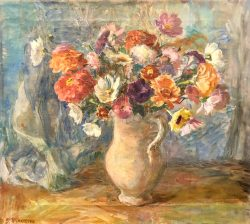 Florals in Pitcher by Sarah Blakeslee (1912-2005)