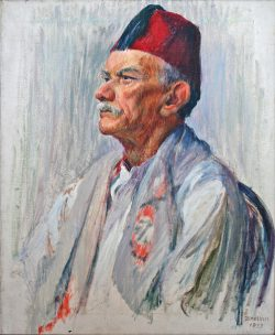 Man With Fez by Sarah Blakeslee (1912-2005)