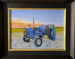 Dusk on the Blue Ford 6600 by William C. Wright