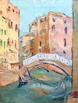 Pont Sur le Canal Vénitien by Wladimir de Terlikowski