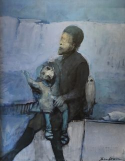 Father Son and Bird by Robert Broderson (1920-1992)