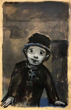 Man in Hat by Robert Brodereson (1920-1992)