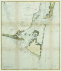 Entrances to Cape Fear River, NC by U.S. Coast Survey Chart