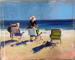 Carrie and Ginny on the Beach by Laura Lacambra Shubert