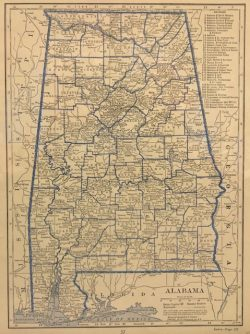 County Map of Alabama by C.S. Hammond & Co.
