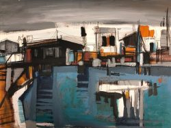 Industrial Harbor by Cox, Joe (1915-1997)