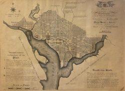 The Plan of the City of Washington by Thackera & Vallance