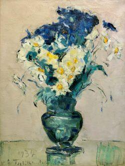 Jonquilles et Iris by Wladimir de Terlikowski