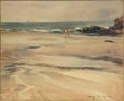 Wading at Low Tide by Harry DeMaine (1880-1952)
