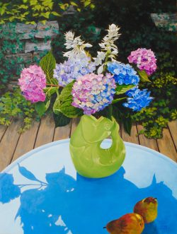 Early Hydrangea with Gurgle Pitcher by William C. Wright