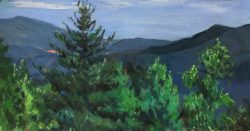 Blue Ridge Mountains by Elsie Dinsmore Popkin (1927-2005)