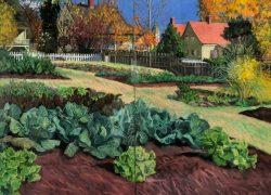 Old Salem Leinback Garden by Elsie Dinsmore Popkin (1937-2005)