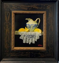 English Creamer, Lemon Slices, and Lace by Bert Beirne