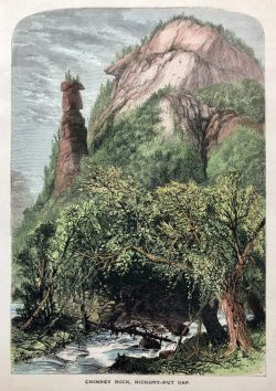 Chimney Rock, Hickory - Nut Gap by Harry  Fenn