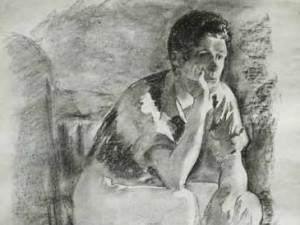 Man Sitting in Chair by Francis  Speight