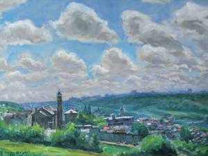 Clouds over Manayunk by Francis  Speight