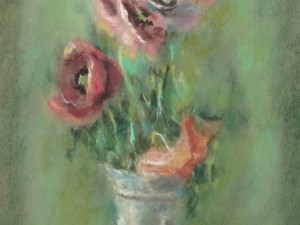 Poppies in a Vase by Hobson  Pittman